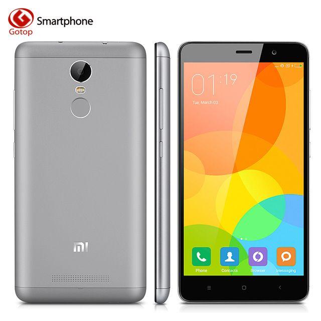 Оригинал Xiaomi Redmi Note 3 Pro 5.5 дюймов Snapdragon 650 Гекса Ядро Xiaomi Сотовый Телефон, Оперативной Памяти 2 ГБ + Rom 16 ГБ 4000 МАч Отпечатков Пальцев