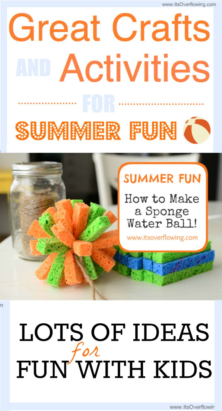 Great Crafts and Activities for Summer Fun. Click the Pic for LOTS of Ideas...