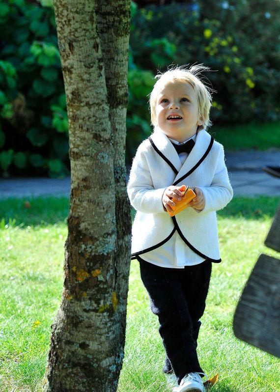 Toddler boy wedding wool suit  felted wool boys by DressInFelt