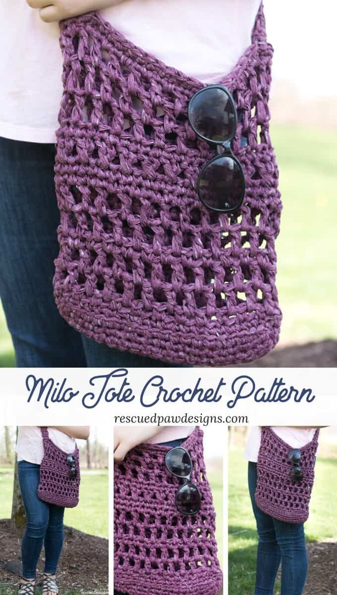 Milo Crochet Market Tote Bag | crochet! | Pinterest | Bolsos, Bolsa ...