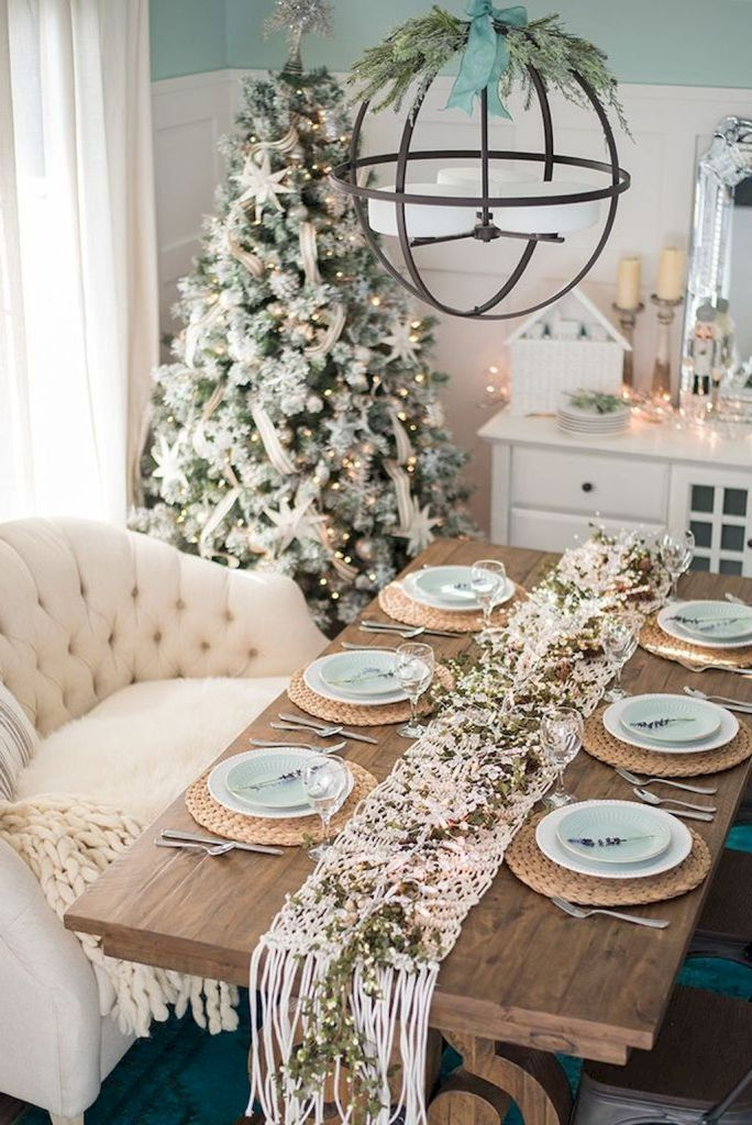 Beautiful French Country Dining Room Ideas 65 Christmas Dining Room Table Dining Room Table Set Christmas Table Decorations