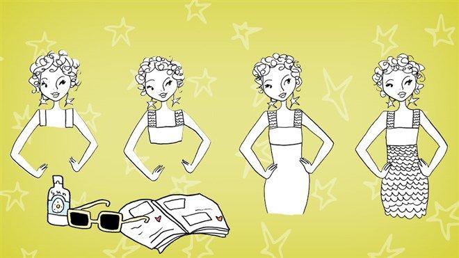 Extra DIY Zomers jurkje tekenen