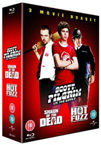 Scott Pilgrim Vs. The World/Hot Fuzz/Shaun of Triple bill of comedy films from director Edgar Wright. In Scott Pilgrim Vs. The World (2010) Scott Pilgrim (Michael Cera) is a 22-year-old slacker who plays bass for garage band Sex Bob-omb and is ca http://www.MightGet.com/january-2017-12/scott-pilgrim-vs-the-world-hot-fuzz-shaun-of.asp