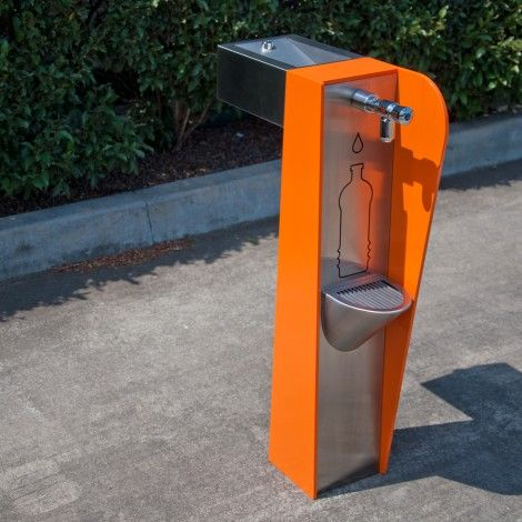 The Apollo 280 by Urban Fountains & Furniture is not only bright & funky but doubles as a #drinkingfountain and water bottle refiller.