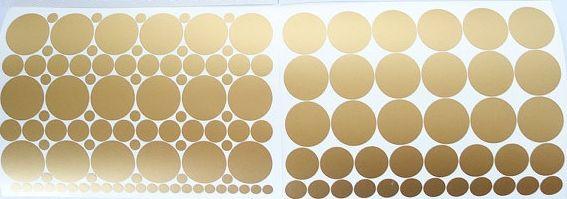 Vinilo lunares color oro