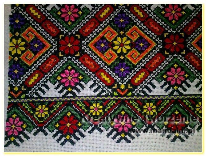 wyszywane poduszki haft krzyzykowy wzory ukrainskie (6)