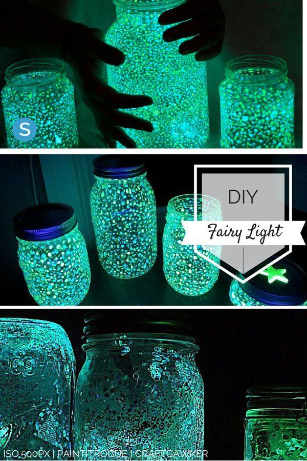 Einfaches Tutorial, um aus einem Einmachglas Ihr eigenes Lichterkettengerät zu machen. simplemost.com / …..   – DIY's and Tutorials