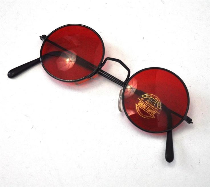 Vintage Round Lens 1990's Glasses Sunglasses New Hippy Lennon Ozzy Osbourne | eBay