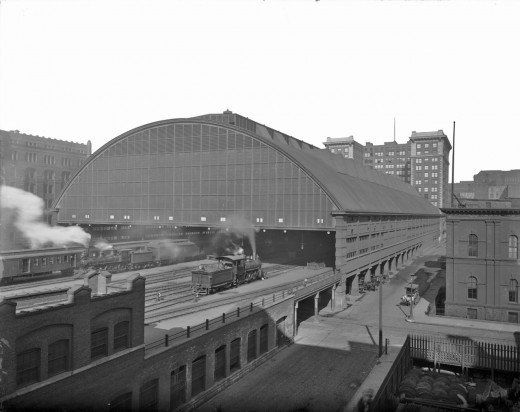 Lasalle Street Station Train Shed 1905 Historic Train Station