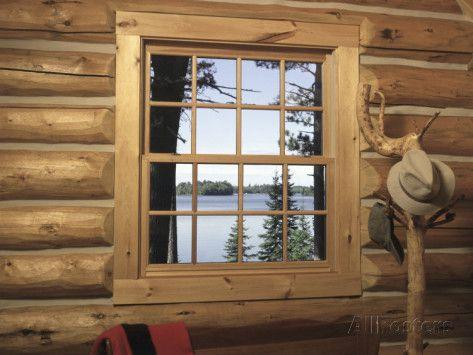 8 Best Images About Log Cabin Windows On Pinterest Duvet
