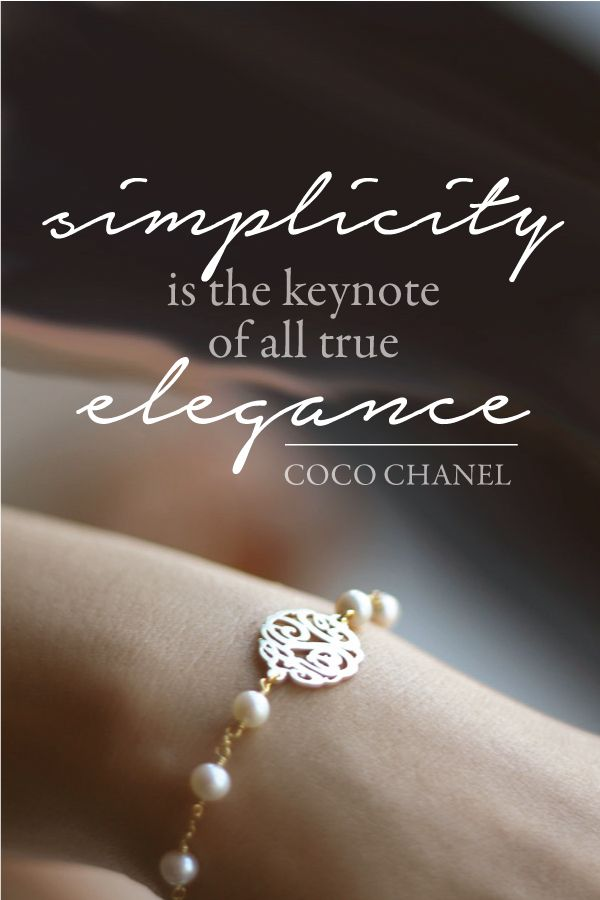 Simply true - Pearl monogram bracelet