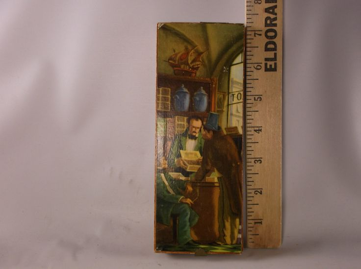 Wood Cigar Box W. Germany Tobacco Store Advertising BRAZIL Trullerie - Malsch Heidelberg - West Germany.epsteam by retroricks on Etsy