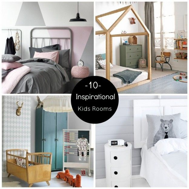 10 Inspirational Kids Rooms-Full of great DIY ideas for your kids room !