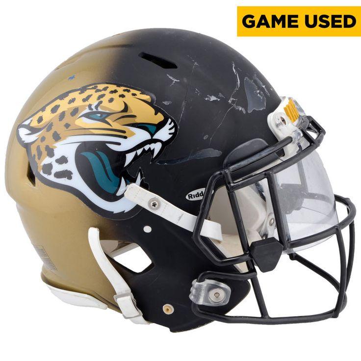 Dante Fowler Jr. Jacksonville Jaguars Game-Used #56 Black and Gold Helmet from the 2016 NFL Season