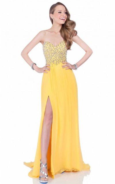 A-line Sweetheart Empire Sleeveless Asymmetrical Prom Dresses