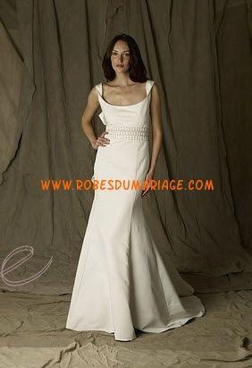 Lela belle Rose Robe de Mariée pas cher lyon ivoire avec bretelle satin