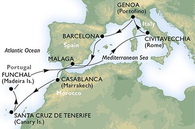 Risteily Välimereltä Kanarialle ja Madeiralle - Kaiken maailman risteilyt