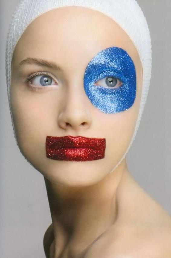 Geometric make up by Inaki. Photograph by Richard Burbridge.