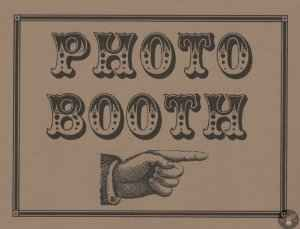 Western Font Photo Booth Sign