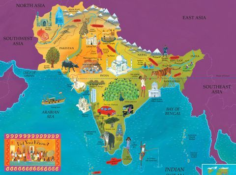 Best India Map Ideas On Pinterest Map Of India Indian - Simple map of asia for kids