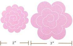 molde de flor de feltro - Pesquisa Google