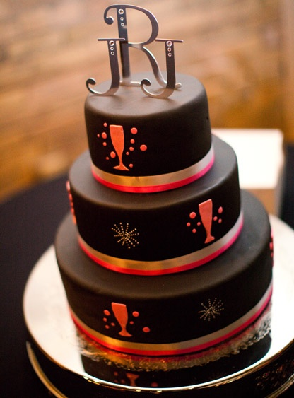 New Years Eve Decorated Cakes