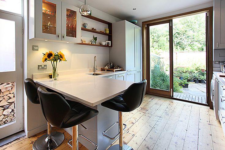 Small Eat In Galley Kitchen With 3 Doorways Kitchen