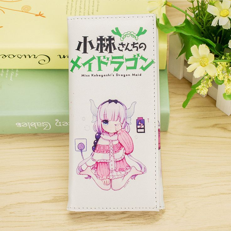 Miss Kobayashi's Dragon/Kobayashi-san Chi no Maid Dragon Manga cartoo Tohru KannaKamuy cute cartoon printing PU woman Wallet