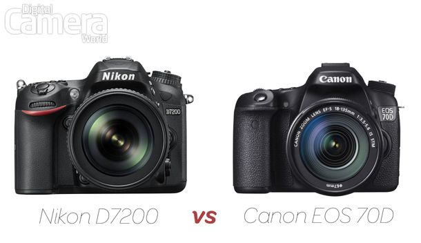 Nikon D7200 vs Canon EOS 70D: enthusiast DSLRs go head to head