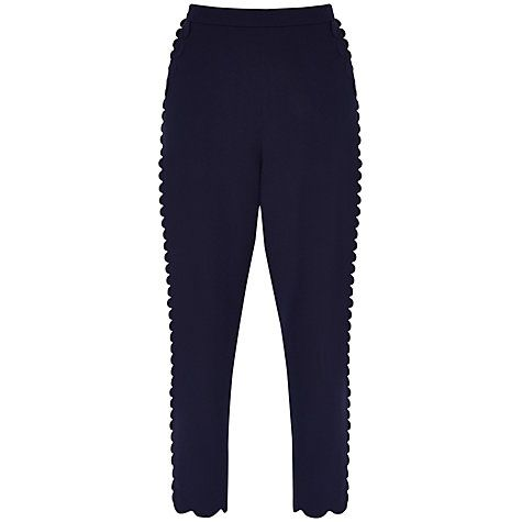 Buy Ted Baker Scallop Trim Jogger Trousers, Navy Online at johnlewis.com