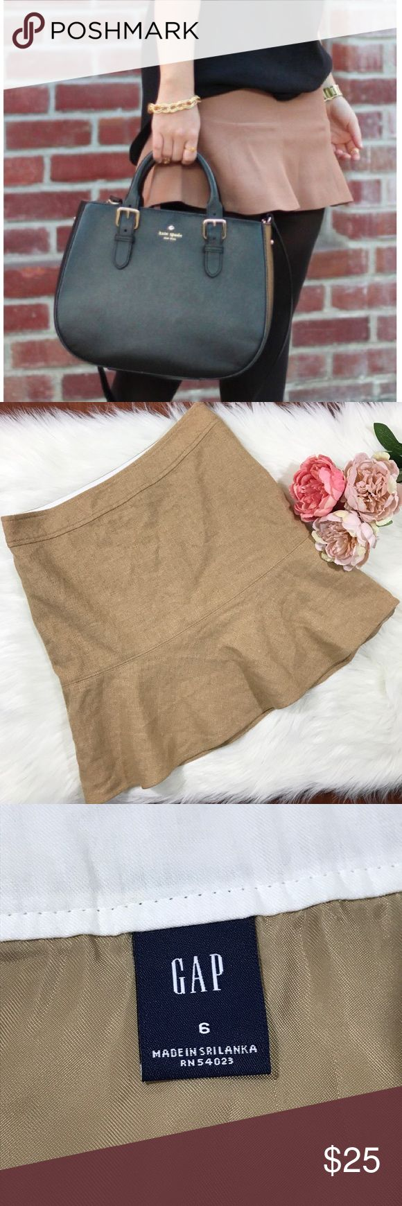 Gap Wool Camel/ Tan Trumpet Flare Hem Skirt Gap Wool Camel/ Tan Trumpet Flare Hem Skirt.  Features side zipper for easy access. Wool blend.   Gently used, excellent condition! Size 6. GAP Skirts A-Line or Full