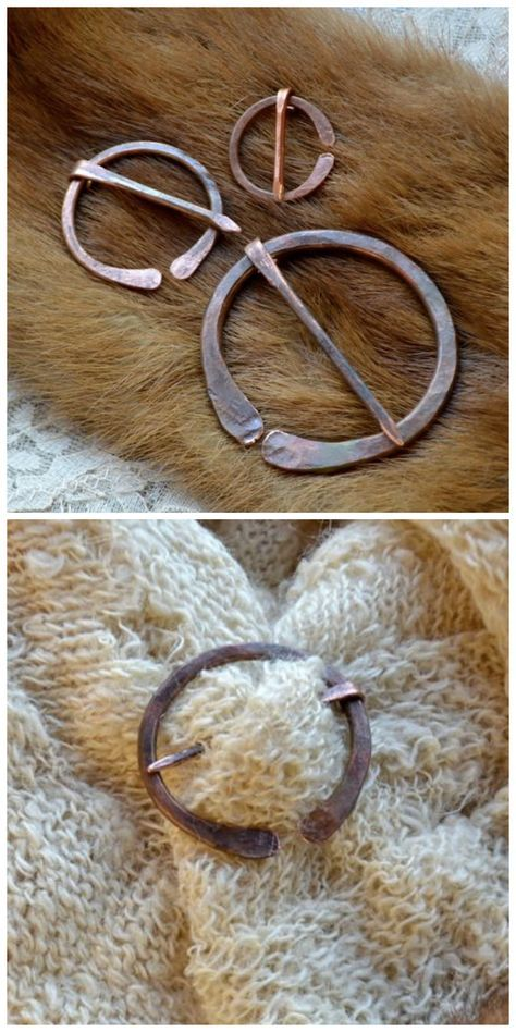 A Celtic Brooch, Called Also Penannular Brooch, Made With A Scrap Piece Of  Thick