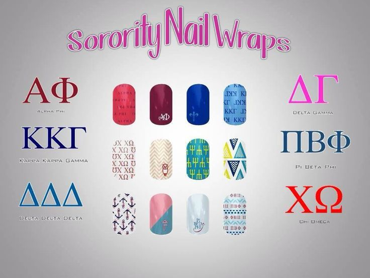 Sorority ladies - get your sorority nail wraps! Host a party with your fellow sorority sisters and get FREE nail wraps.  Contact me for more info.  http://jessicaposey.jamberrynails.net