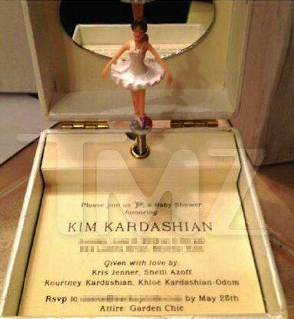 garden theme baby shower kim kardashian sends out music box baby shower invitations bossip great wedding party decor ideas pinterest baby shower