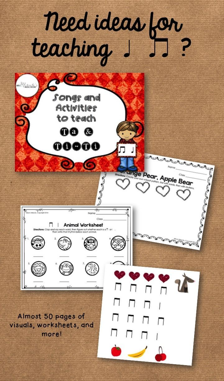 Songs and Activities to Teach Ta and Ti-Ti: Songs, chants, visuals, worksheets, and more!