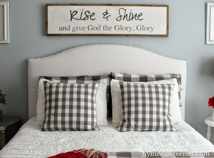 Hymns and Verses  New Sign   Rise and Shine and Give God the Glory. Best 25  Bedroom signs ideas on Pinterest   Farmhouse master
