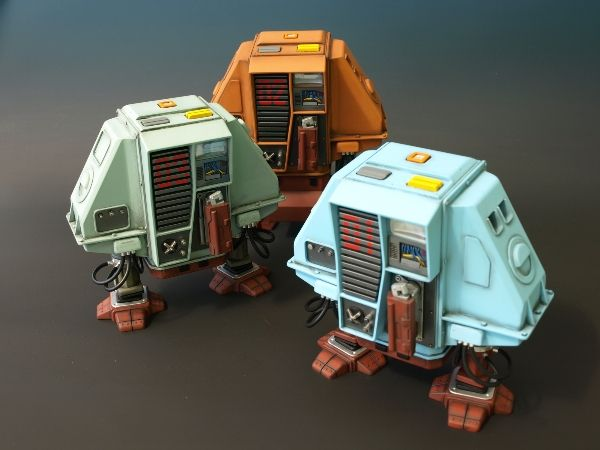Destiny Models - Dewey, Huey and Louie Drones from Silent Running - 1/4 scale model kit