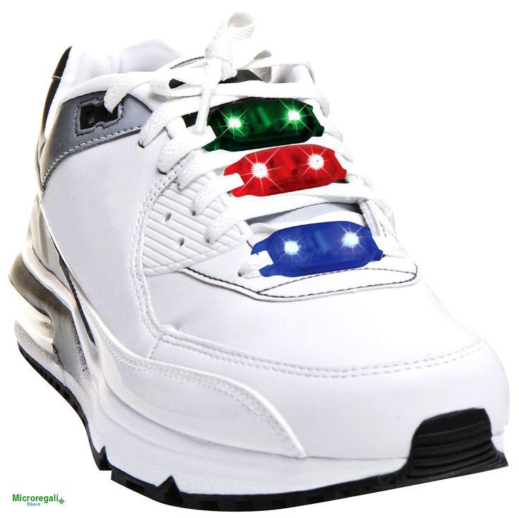 Lampeggiante per Scarpe BLINK STEPZ BLU LED BLU. Per lo Sport e il divertimento. I Led si accendono con il movimento. - Orologi Blink Time -...