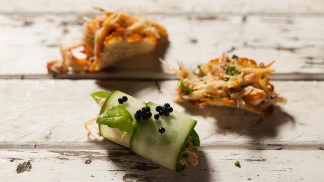 Apéros crabe frais et croquant | Recettes | Signé M | Émission TVA