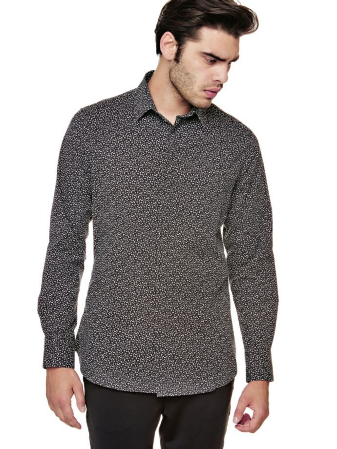 EUR109.00$  Watch here - http://viinx.justgood.pw/vig/item.php?t=gk9dfs21644 - MARCIANO MICRO PRINT SHIRT