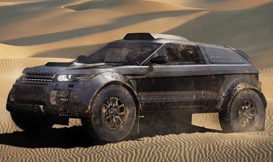Range rover evoque rally car