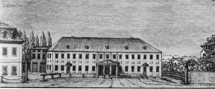Het oude Hoftheater in Weimar waar Goethe jarenlang intendant was brandde op 21 maart 1815 af. Daarna werd een nieuw theater gebouwd.
