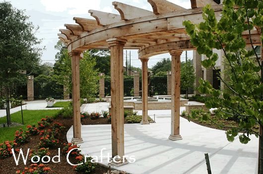 A great arbor.    Google Image Result for http://www.wood-crafters.com/Wood_Crafters_Arbor_Pergola_One_Photo.gif