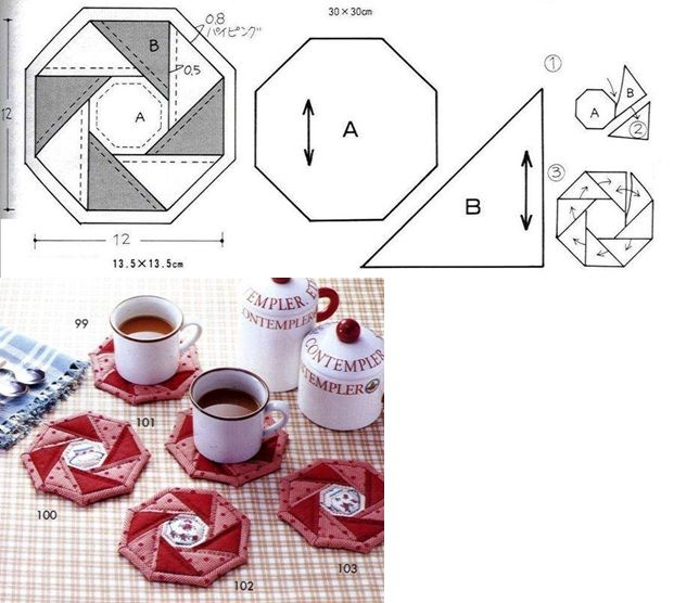 .hexagonal coasters: