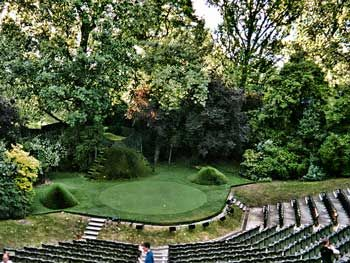 Regent's Park Open Air Theatre: went to see Henry V on a school trip in 1963; oh, how we tittered at 'A little touch of Harry in the night'