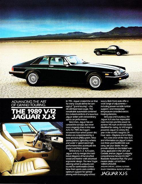 Jaguar V-12 XJ-S (1989) by aldenjewell, via Flickr