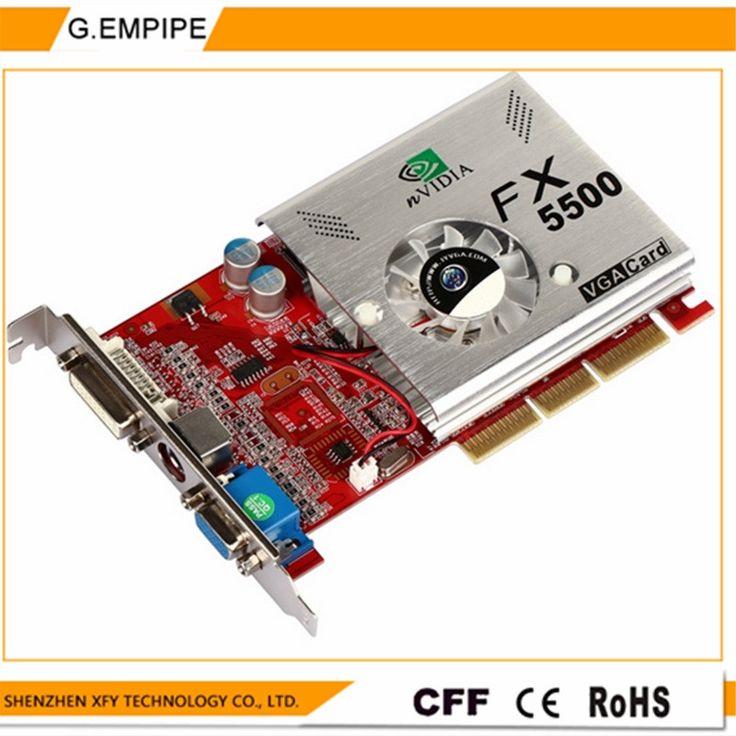 100% NEW 256MB DDR 128Bit GF5500 AGP PC Graphics Card Placa de Video carte graphique