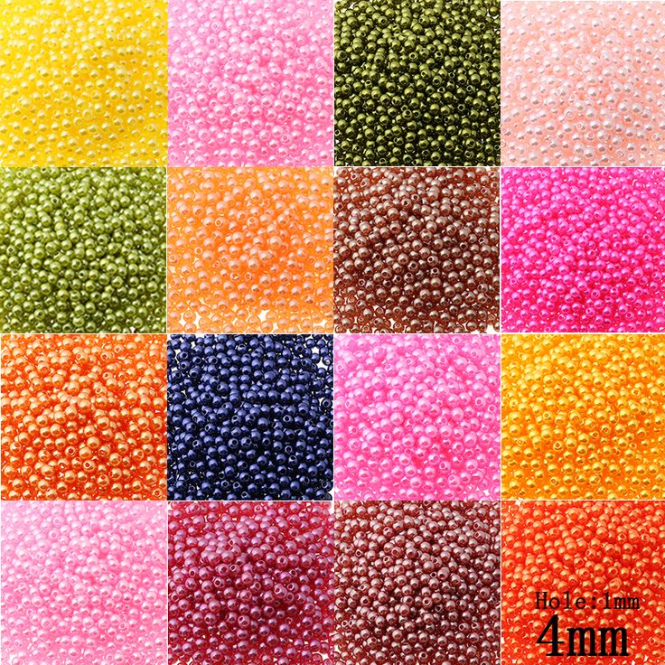 Cheap ball floor, Buy Quality bead ball directly from China bead fabric Suppliers: Multi-colors 1600pcs/lot 4mm Two Hole Round Beads ABS Plastic Ball Imitation Pearl Bead For Kids DIY Jewelry Making Wholesale