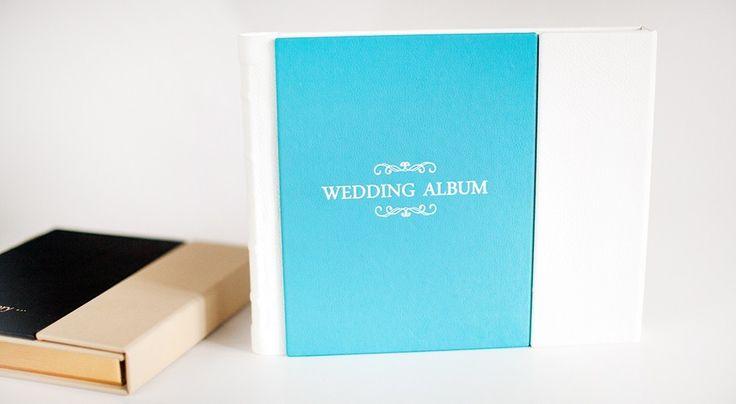 Свадебная фотокнига в обложке с клапаном и тиснением.