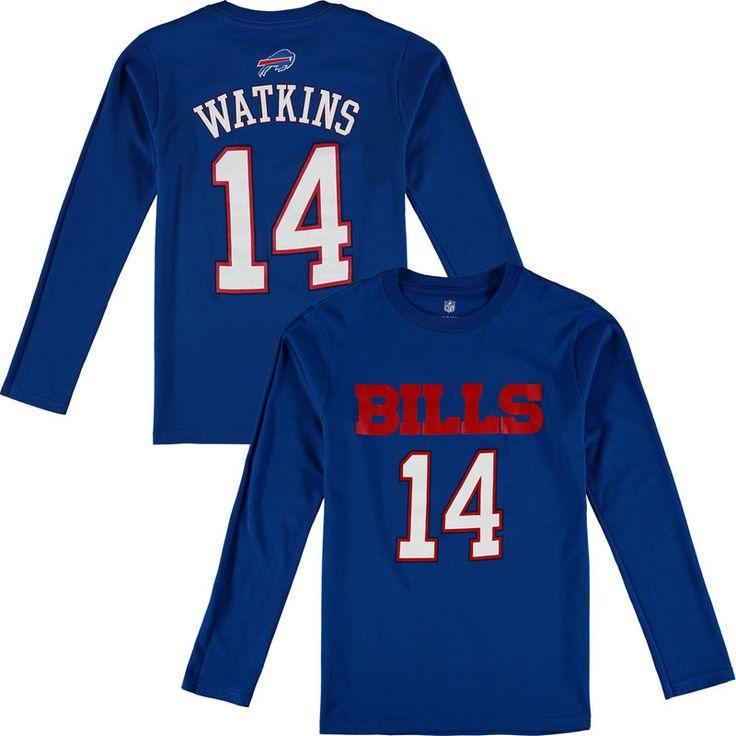 Sammy Watkins Buffalo Bills Youth Player Name & Number Long Sleeve Shirt - Royal